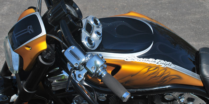 Flat Candy Yellow & Black Gloss Harley Davidson V-Rod Screamin' Eagle
