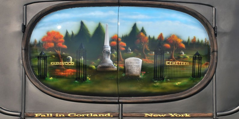 Cemetery Mural, Cortland/Homer NY