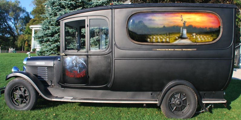 Side View 1931 Brockway Hearse