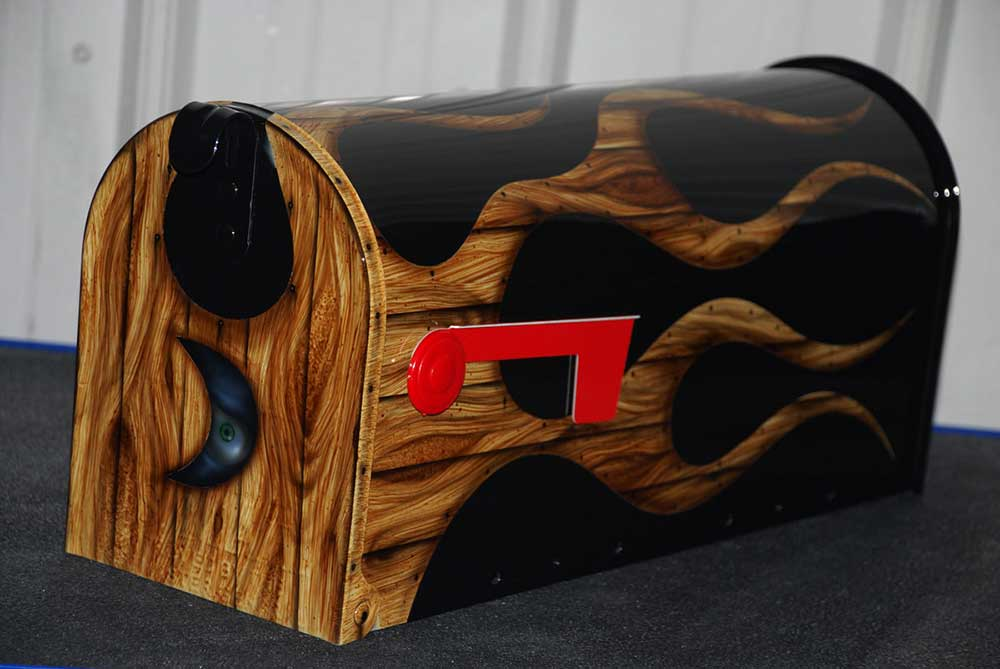 Woodgrain Mailbox