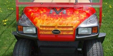 Custom Painted Golf Cart