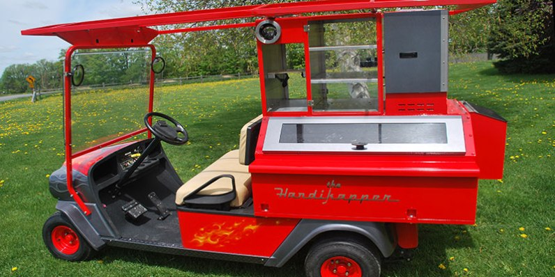 Custom Painted Golf Cart
