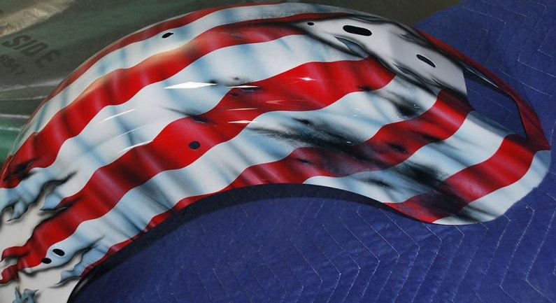 Rear Fender Flag Stripes