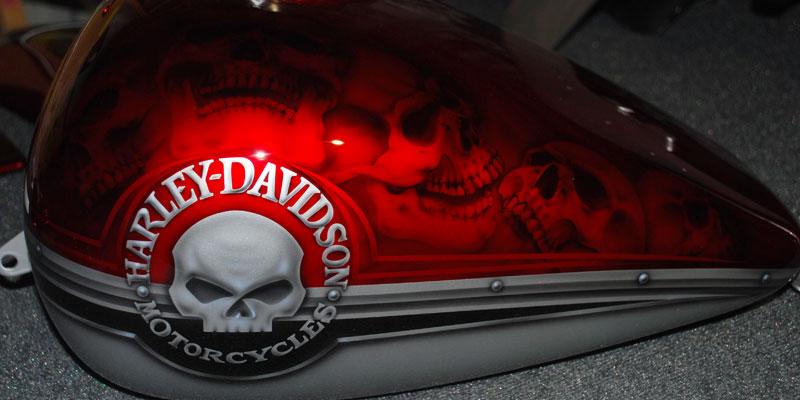 Harley-Davidson Motorcycles Skull Candy Airbrushing – JT's ...
